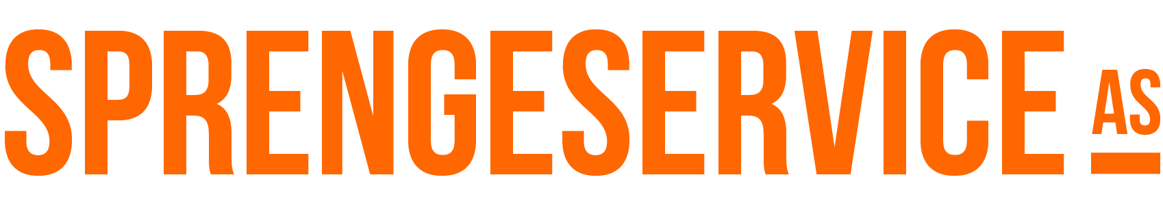 Sprengeservice logo liggende